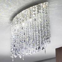 차가운 빛 LED의 G9 램프 홀더 스테인레스 스틸 간단한 설치 눈부신 마릴린 (66) 선형 서스펜션 크리스탈 샹들리에