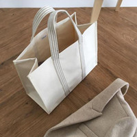 Fashion Jumbo Canvas Totes Beach Bag Large Shopping Bag Summer White Casual Totes 2019 INS Fashion Beige White Color Drop Shipping