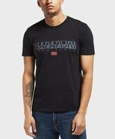 dos homens de manga curta Logo T-shirts Marca Moda Prints Cotton Tops Preto