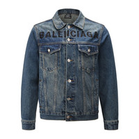 2020 New Mens Denim Jacket Famous Men High Quality Casual Coats Black Fashion Mens Jacket Stylist Outwear Size S-XL