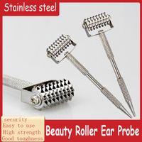 Face Beauty Dermal Roller aux oreilles d'acupuncture Sonde aiguille de sonde en acier inoxydable sans aiguille à ressort