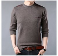 The new winter men' s sweater round neck thick sweater m...