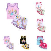 1574abf09 Wholesale kids boutique clothing resale online - kids designer clothes  girls outfits children unicorn Short sleeve