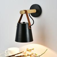 북유럽 벽 램프 LED E27 / E26 나무 벽 조명 거실 침실 호텔 허영 보루 침대 옆 wandlamp 조명기구에 대한