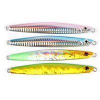 New Lead Aolly Fish Laser VIB Blade richiamo 20g 40g 60g 80g 3-D Eyes Deep Sinking Metal stripe jigs