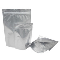 100pcs recycelbaren Aluminiumfolie Reißverschlusses mit Reißverschlußbeutel stehend Mylar Nahrungsaufbewahrungstasche Kleinqualität Kaffeepackung Beutelverpackung