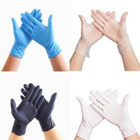 100 PCS Одноразовые латексные перчатки ПВХ перчатки для мытья посуды Kitchen Латекс резиновые перчатки сада XL / L / M / S Универсальный Для дома Очистительные