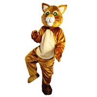 2018 New high quality Brown Cat Mascot costumes for adults c...