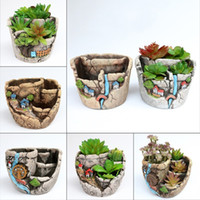 Jardín Fleshy Flower Pot Green Planting Micro-View Flowerpot Creative Eco Friendly Venta caliente con varios patrones 10 98wt J1