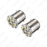 Venta al por mayor White Car LED bombillas de iluminación S25 1156 1210LED 9SMD freno gire luz de respaldo LED # 1648