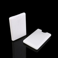 20ML 흰색 플라스틱 신용 카드 모양의 포켓 사이즈 플랫 병 여행 미세 미스트 병 리필 보습 스프레이 컨테이너 병 스프레이