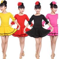 무대 착용 착용 소녀 파티 라틴 드레스 표준 어린이 경쟁 댄스 어린이 살사 볼룸 춤 의상