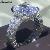 choucong Full Princess cut Ring 925 Sterling Silver Big 6ct ...