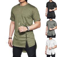 Nouvelles tendances Hommes T-shirts À Manches Courtes Couleur Unie T-Shirt