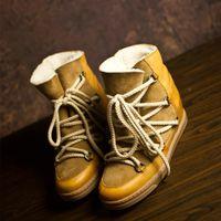 2Perfect Kalite Isabel Küme Deri Çizme Paris Sokak Modası Marant Yeni Gerçek Deri Ayakkabı Yuvarlak Burun Çizme lüks tasarımcı dantel yukarı