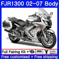 Kit für Yamaha FJR1300A 2001 2002 2003 2004 2005 2006 2007 2007 2AAHM.35 FJR 1300 Gloss Silber Top FJR-1300 FJR1300 01 02 03 04 05 06 07 Verkleidungen