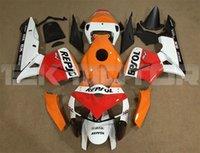 Top Inyección calidad moldeo ABS llena de la motocicleta kit del carenado en forma para CBR600RR F5 2005 2006 libre de la aduana Rojo Naranja Repsol