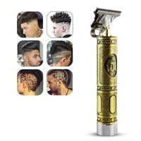 Cabeleireiro digital de fechamento Cabeleireiro Elétrico Tosquiadeira Profissional Barber Homens Trimmer Recarregável T-lâmina DLH416