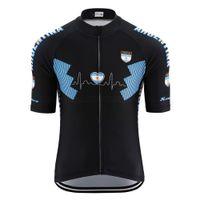 Été Nouvelle Qualité Haute Qualité Argentine Black Cyclisme Jersey Men Triathlon Jersey Certurel Jersey Rétro Vélo Vélos Racing Cyclisme Vêtements Tops