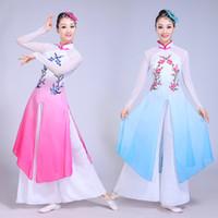 Eski Çin Kostüm Yeni Stil Klasik Dans Kostüm Kadın Şık Şemsiye Dans Fan