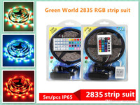 5M IP65 LED Streifen 300leds Farbwechsel RGB SMD2835 LED Light Strip Kit RGB 5M + 44key Ferncontroller + 12V 3A Stromversorgung MOQ 1 Kit