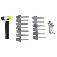 Alta Qualidade 13pcs Aço Inoxidável Boutique HUK Bloqueio Escolha Set Bump Chaves Bump Gun serralheiro Ferramenta de Mão Ferramenta