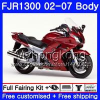 Body For YAMAHA FJR1300A FJR1300 01 02 03 04 05 06 07 2AAHM.6 FJR 1300 hot Glossy red FJR-1300 2001 2002 2003 2004 2005 2006 2007 Fairing