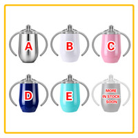 9oz Stainless Steel Sippy Cups For Baby Kids Double Wall Vac...