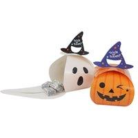 10pcs Cadılar Bayramı Kabak Şeker Kutusu Hile veya Treat Kağıt Kutu Çocuk Hediye Halloween Party Dekorasyon All Hallows' Gün yortusu