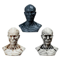 wholesale 3style 10cm Human muscle head mannequin carving, s...