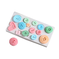 1Pcs Button Shapes DIY Fondant Cake Silicone Mould Chocolate...