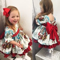 Christmas Toddler Kid Baby Girl Tutu Dress Princess Red Bow ...