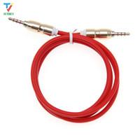 100 stks / partij 3.5 Jack Audio Cable Jack 3.5 mm Mannelijk naar Mannelijke Bullet Hoofd Audio Aux Kabel voor iPhone Auto Hoofdtelefoon Luidspreker 4 Wire Line Aux Cord