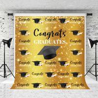 Sueño 5x7ft felicidades graduados fotografía fotografía dorado bokeh decoración soltero tapa fondo paso y repetir disparos de fondos de fondo