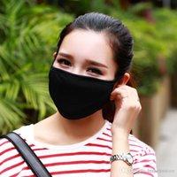 htsportsstore 50pcs anti-polvere di cotone Viso Bocca Maschera Unisex Uomo Donna in bicicletta che indossa la moda di alta qualità nero
