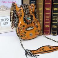 Pink Sugao Designer Designer Borse Donne Borse a tracolla Nuovo Borsa da donna fatta a mano Borsa per styling per chitarra 2020 Casual Casual Casual Borsa a catena perline