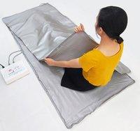 원적외선 사우나 담요 난방 치료 체중 감량 슬리밍 담요 바디 랩 휴대용 사우나 담요 가방 전나무 슬리밍 기계