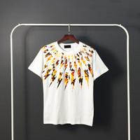 남성 스타일리스트 T 셔츠 힙합 남성 스타일리스트 고품질 프린트 T 셔츠 남성 여성 여름 짧은 소매 티셔츠 4 개 스타일.