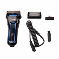 La vendita calda Rasoio elettrico ricaricabile Beard Trimmer Ergonomia design rasatura macchina professionale Maschio alternativi rasoio elettrico