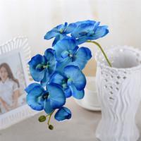 Artificiale Farfalla Orchidea Fiore di seta Bouquet Phalaenopsis Wedding Home Decor Moda fai da te Soggiorno Decorazione di arte