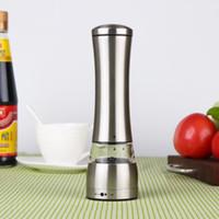 Moedor de pimenta Sal Muller Manual Moinhos de Pimenta Rotativa de Aço Inoxidável Máquina Moedor de Funil de Plástico para Cozinhar Cozinha