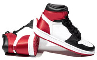 2019 New 1 Satin Black Toe Basketball Shoes Men Women 1s Sat...
