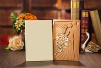 2020 Nuevas tarjetas de invitación de boda de la novia y el novio europeo de la novia Corte laser Invitaciones de boda gratis Impresión personalizada
