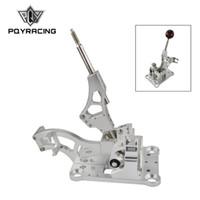 ل Acura RSX / K Series Engine، EK EK DC2 EF Billet Shifter Box / ألياف الكربون الحقيقية والعتاد التحول المقبض اليدوي كروية PCY-PDZ001