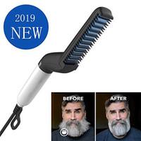 Краткая борода выпрямитель гребень многофункциональный бигуди для волос выпрямление разрешено клип-гребень стилер электрический инструмент для мужчин