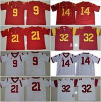 USC Trojans 9 Juju Smith-Schuster Jersey Homens Futebol Futebol 14 Sam Darnold 21 Adoree Jackson 32 OJ Simpson costurado Vermelho Branco Tamanho S-XXXL