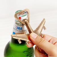 Küche Aluminium-Legierung Flugzeug Openers 2-Flugzeug Flaschenöffner Bier-Öffner-Hochzeit Geschenk-Partei-Bevorzugungen ST037