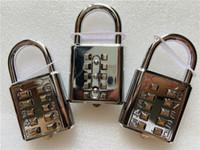 10 Haneli Düğmesi Parola Kilidi Krom Kaplama Hırsızlık Kombinasyon Asma kilit itin Şifre Locker vb Mekanizması kilitleme