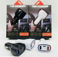 PD fast Car Charger QC3. 0 Quick Charger 3USB Type C USB Quick Charging Car Mobile Charger для смартфона HTC Samsung с розничной коробкой