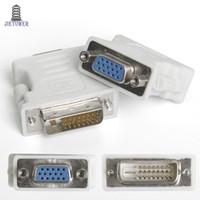 500 adet / grup DVI24 + 5 VGA adaptörü çift monitör konektörü VGA DVI Dönüştürücü Adaptör adaptör konektörü